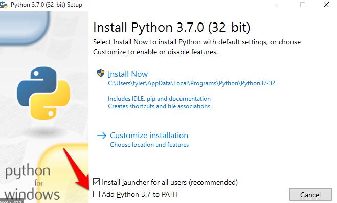 Adicionar python ao path